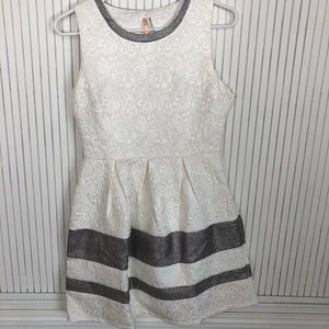 White Floral A-Line Summer Dress